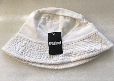 HERSCHEL SUPPLY CO Lake Bucket Hat White Blue Gingham New With Tags ... ea18fd0f3deb