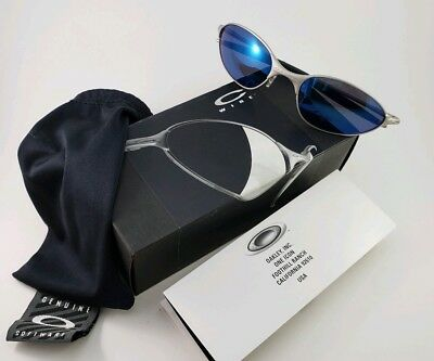 01633cde6a VINTAGE OAKLEY E Wire Gen 1 Oval Graphite Mirror Sunglasses With ...
