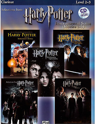 Harry Potter Sheet Music for Clarinet Hedwig's Theme, Hogwarts' March, Fireworks