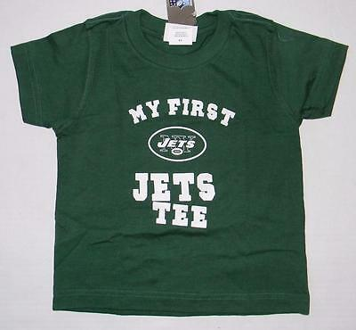 NWT Toddler Boys Girls My First New York Jets Tee Shirt Reebok 2T 3T 4T Kids b146442f9