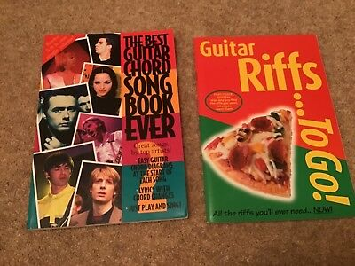 Two Guitar Books - Guitar Riffs To Go and The Best Guitar Chord Song Book Ever