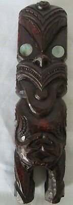 MAORI SCULPTURE - HANDCRAFTED - * Bought in New Zealand