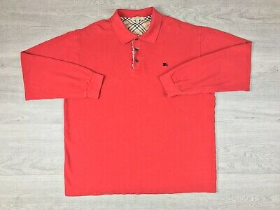 fd9133d6d001 Burberry London Mens Polo Shirt Long Sleeve Size M Made In Great Britain  Old Sc