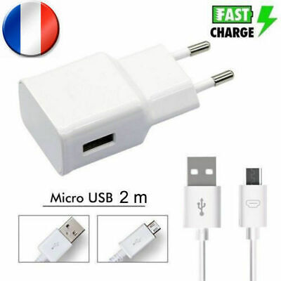 Pour Samsung Chargeur Charge Rapide Note 4 5 S6 S7 Edge Prise 2M Micro Usb Cable