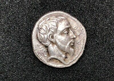 ANCIENT GREECE THRACE METOCUS 407-389 B.C. SILVER COIN 1.47gr 12mm /806/