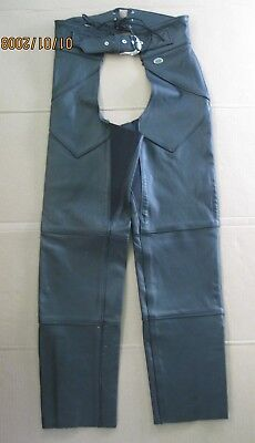 """""""HARLEY DAVIDSON"""" Women's (Size S) Made in USA Leather Chaps NICE !!! EUC !!!"""