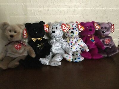 BEANIE BABIES - Millennial Bears (Set Of Six) -  6.00  d58561a01cb