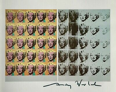"""Andy Warhol, """"Marilyn Diptych"""" Hand signed Print, 1986 with COA"""