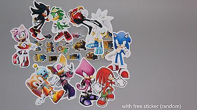 10x sonic the hedgehog sticker SonicTails Cream Amy Jet Shadow Wave Storm Rouge