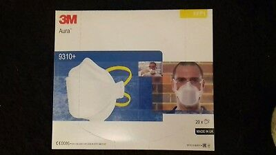 3M 9310+  Aura unvalved dust mask. Box qty 20.