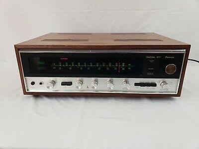 Sansui 4000 Stereo Receiver with Wood Cabinet Professionally Serviced VERY NICE!