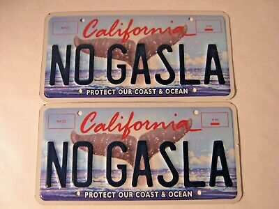 "PERSONALIZED VANITY California License Plate ""NO GASLA""  TESLA MOTORS ELON MUSK"
