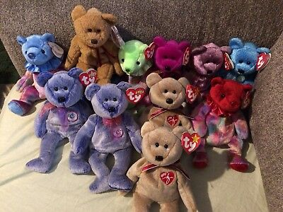 Ty Beanie Babies Lot of 11 Plush Bears in Excellent condition with tags e8deb7bd62a0