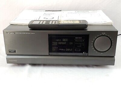 Vintage 1992 Mitsubishi M-R8010 Receiver w/ Remote 125 WPC Top Of The Line NICE!