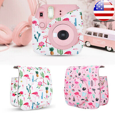 For Fujifilm Instax Mini 8 9 Instant Camera Carrying Case Bag Cover PU Leather