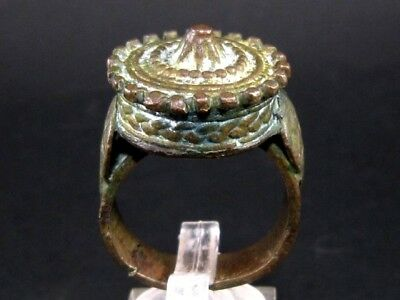 BEAUTIFUL POST MEDIEVAL LARGE BRONZE RING known as REX RING!!!