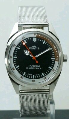 Writs Watch FORTIS, Swiss Made vintage Hand winding, 35 mm.   FHF ST-96, WORKING