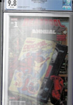 Deadpool Annual #1 Marvel Comics CGC 9.8 White Pages