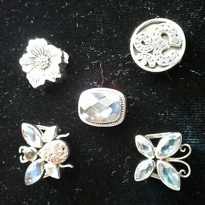 5 new Authentic Lori Bonn Bons  .925 Sterling Silver Slide Charm