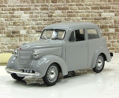 KIM-10-50 USSR First Soviet Small Compact Gray Car 1:43 Scale Diecast Model