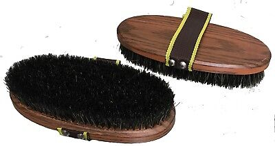 Large Natural Bristle Body Brush Grooming Horse Pony Riding Care Grooming
