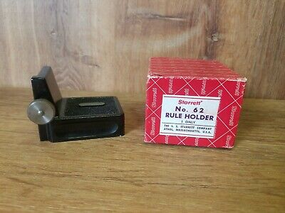 Boxed. STARRETT RULE HOLDER No.62.. machinist surface gage