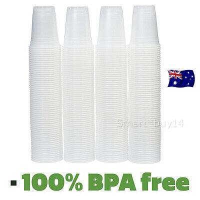 Disposable Plastic Cups Clear Reusable Drinking Water Cup Party 200ml Bulk AU OZ
