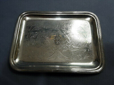 """Christofle Silver Plated Tray 8 3/4"""" X 6 1/2"""""""