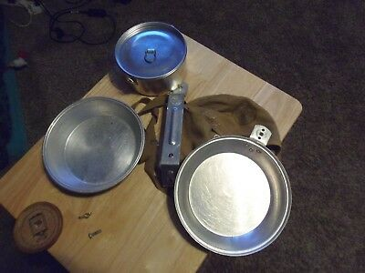 Vintage 1960's Boy Scout Mess Kit with Cover and Cooking Pot, USA