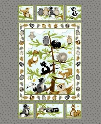 Susybee * Woodland Friends Quilt Panel * Unisex * New * Free Post * Gorgeous *