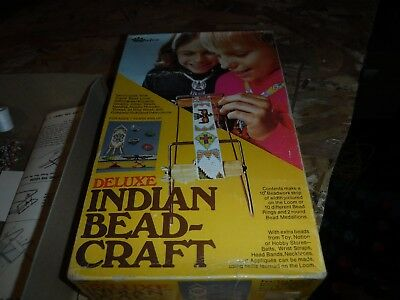 Deluxe Indian bead craft set - 1974 Walco toy company