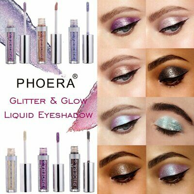 12 Colors Eyeshadow Liquid Waterproof Glitter Eyeliner Shimmer Makeup CosmIE