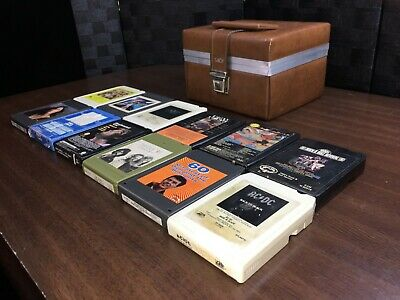Lot of (12) 8 Track Tapes *TESTED Play Great Rock Metal etc Tape Collection Case