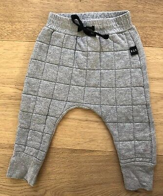 Huxbaby Unisex Cotton Grey Quilted Pant Size 1