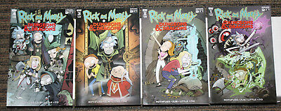 IDW Rick & Morty and Dungeons & Dragons #1-4 COMPLETE SET - All As, ALL 1sts