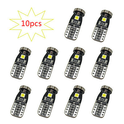 10x T10 168 2825 W5W 194 LED Bulb 3030 SMD 24 Car Interior LED Light White 12V