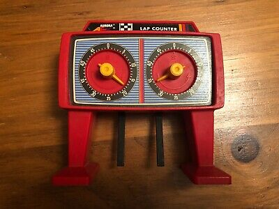 AFX Aurora (1978) Slot Car Overhead 50 LAP Race COUNTER #1493 Rare RED Tower!