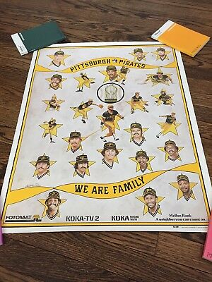 1980 Pittsburgh Pirates World Series Promotional Poster Vintage