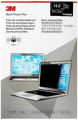 """[Factory Sealed] 3M Privacy Filter for 14"""" Widescreen Laptop (16:9) PF140W9B NEW"""