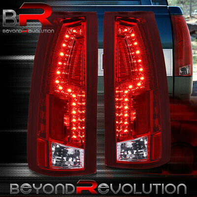Red Lens Rear Led Tail Lights For 88-98 Chevy C/K C10 Silverado 1500 2500 Truck