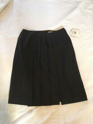 c443f24473ce NWT Valerie Stevens Stretch Wool Blend A Line Pleated Gray Skirt Size 14  Career