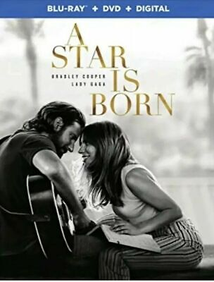 A Star Is Born (Blu-ray + DVD + Digital; 2018) NEW with Slipcover