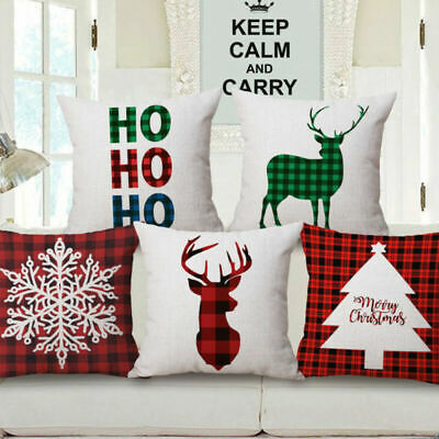 "Merry Christmas Xmas Gift Designed Throw Pillow Case Cover Cushion 18""*18"""