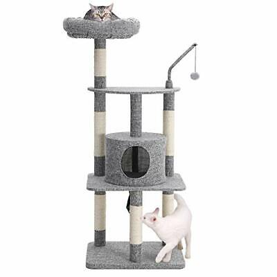 MultiLevel Cat Tree with SisalCovered Scratching Posts Padded Condo Centre