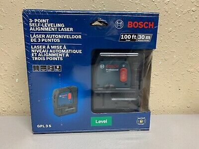Bosch GPL 3 S 100ft 3-point Self-leveling Alignment Laser New Factory Sealed