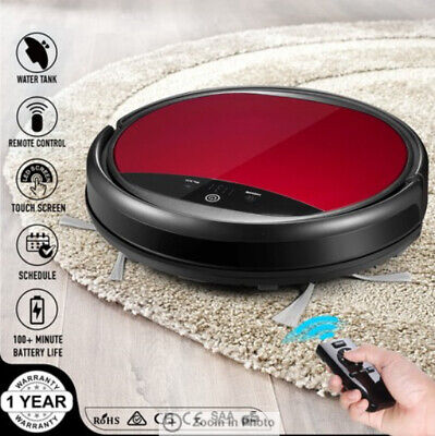 Maxkon Automatic Robot Vacuum Cleaner LED Touch Self-Charged Screen Sweeper Red