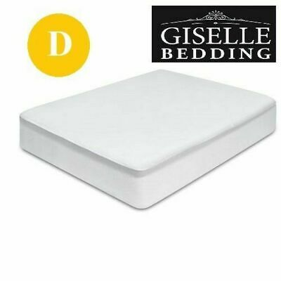 Giselle Bedding Fully Fitted Waterproof Mattress Protector Terry Cotton Cover D