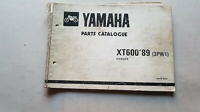 Yamaha XT 600 1989 catalogo ricambi originale spare parts catalogue