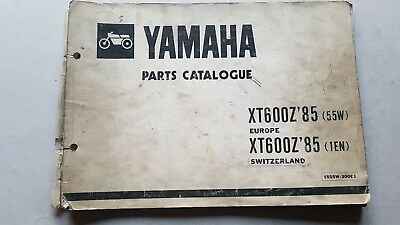 Yamaha XT 600 Z 1985 catalogo ricambi originale spare parts catalogue