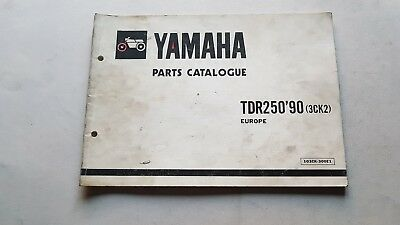 Yamaha TDR 250 1990 catalogo ricambi originale spare parts catalog